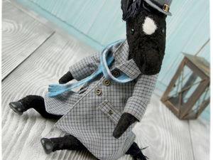Кто, кто?!!!! Конь в пальто!!! | Ярмарка Мастеров - ручная работа, handmade