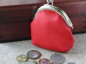 Шьем милый кошелек-монетник из экокожи. Ярмарка Мастеров - ручная работа, handmade.