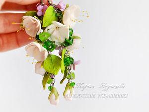 Как помыть украшение с цветами из запекаемой глины fimo.   Ярмарка Мастеров - ручная работа, handmade