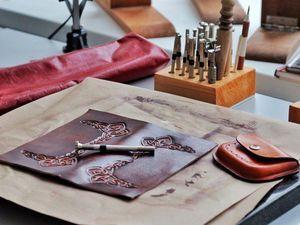 Тиснение и художественная обработка кожи   Ярмарка Мастеров - ручная работа, handmade