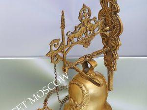 РЕДКОСТЬ Колокол колокольчик лев бронза Франция 1 | Ярмарка Мастеров - ручная работа, handmade