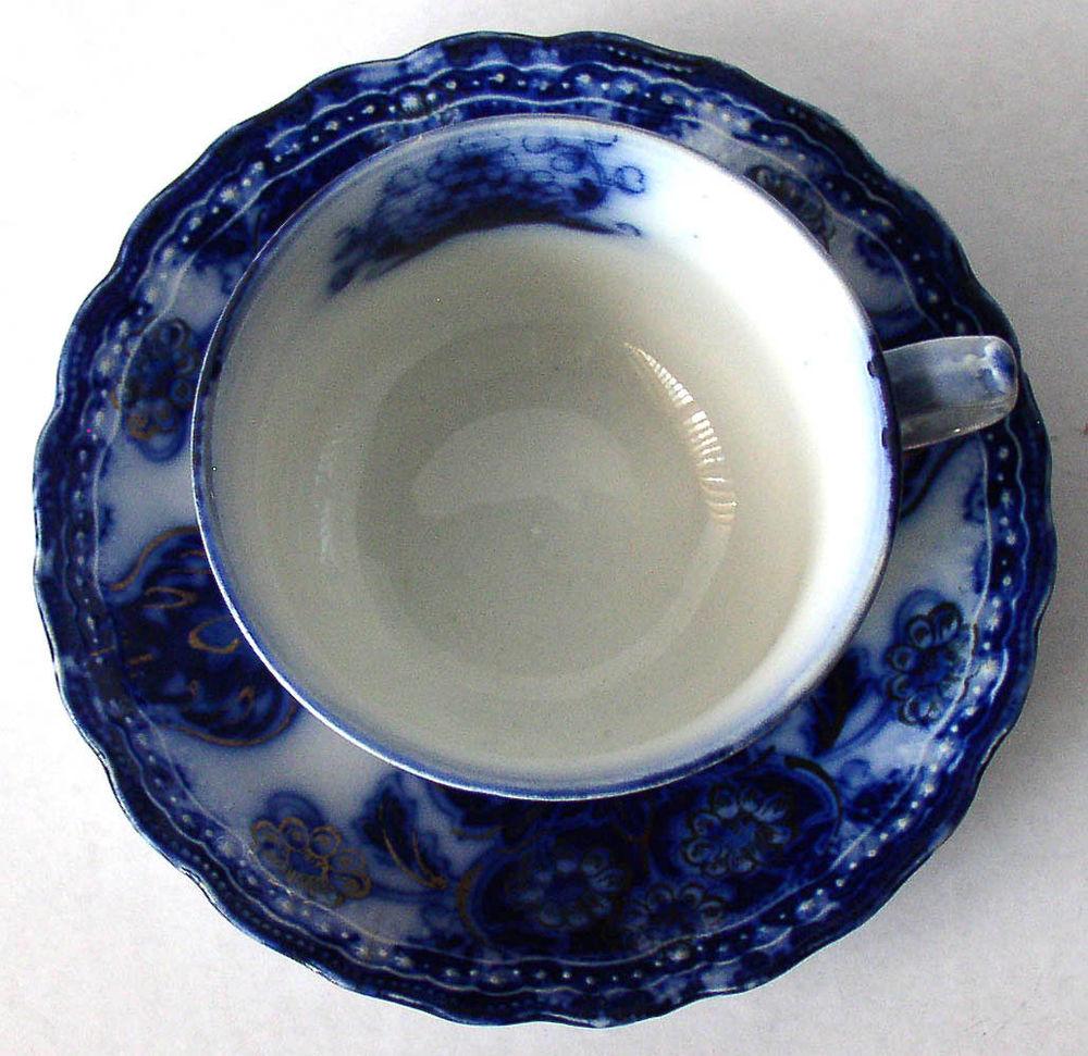 Flow blue — антикварная красота из Англии, фото № 24
