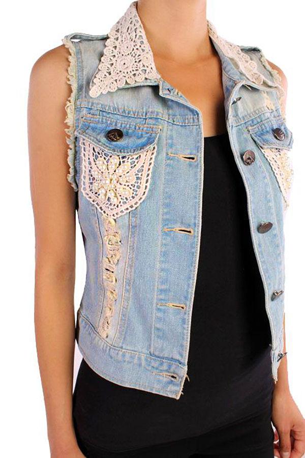 Многообразный декор джинсовых курток: 50 интересных вариантов, фото № 19