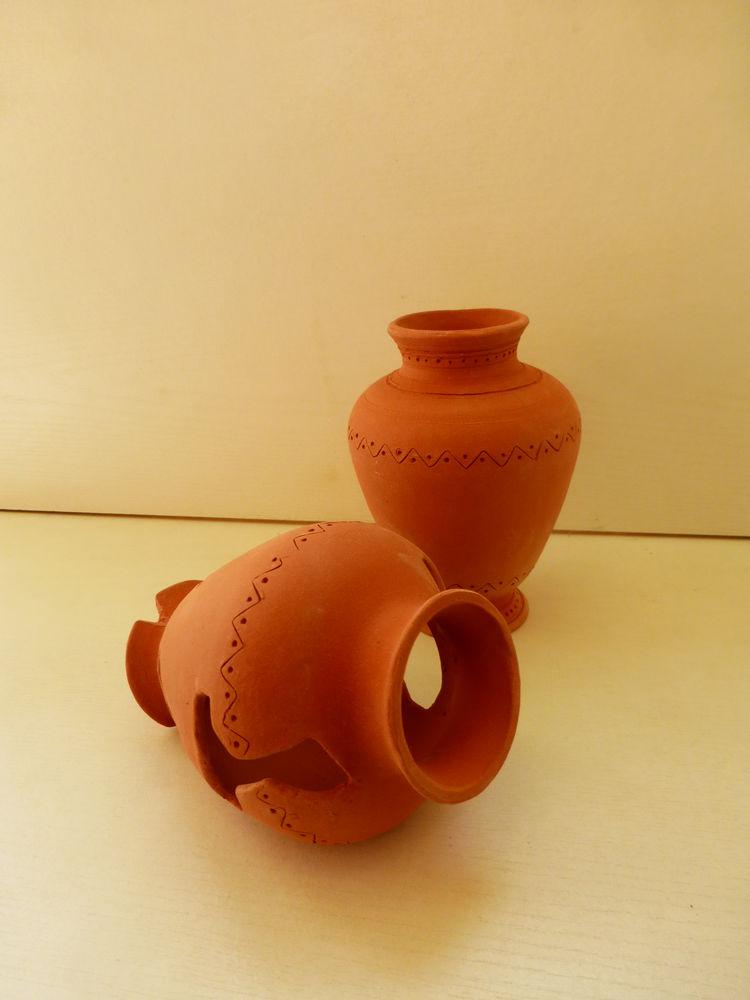 из красной глины, керамера