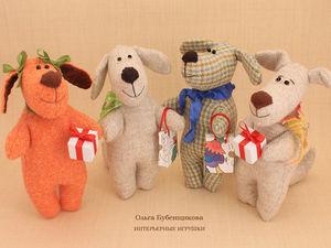 Новогодние игрушки собачки уже в продаже!. Ярмарка Мастеров - ручная работа, handmade.