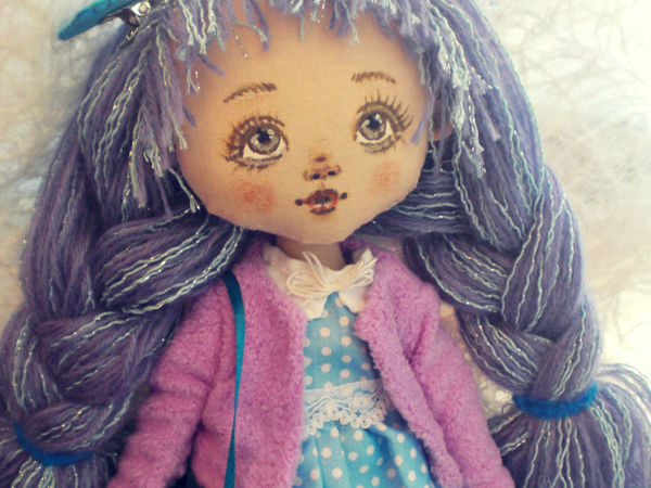 Новая кукла Лавандовая Девочка, фотографии и сказка   Ярмарка Мастеров - ручная работа, handmade