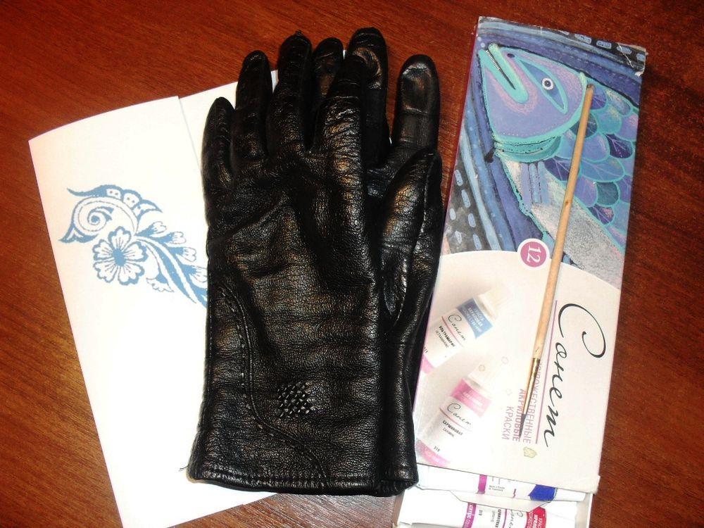 роспись перчаток