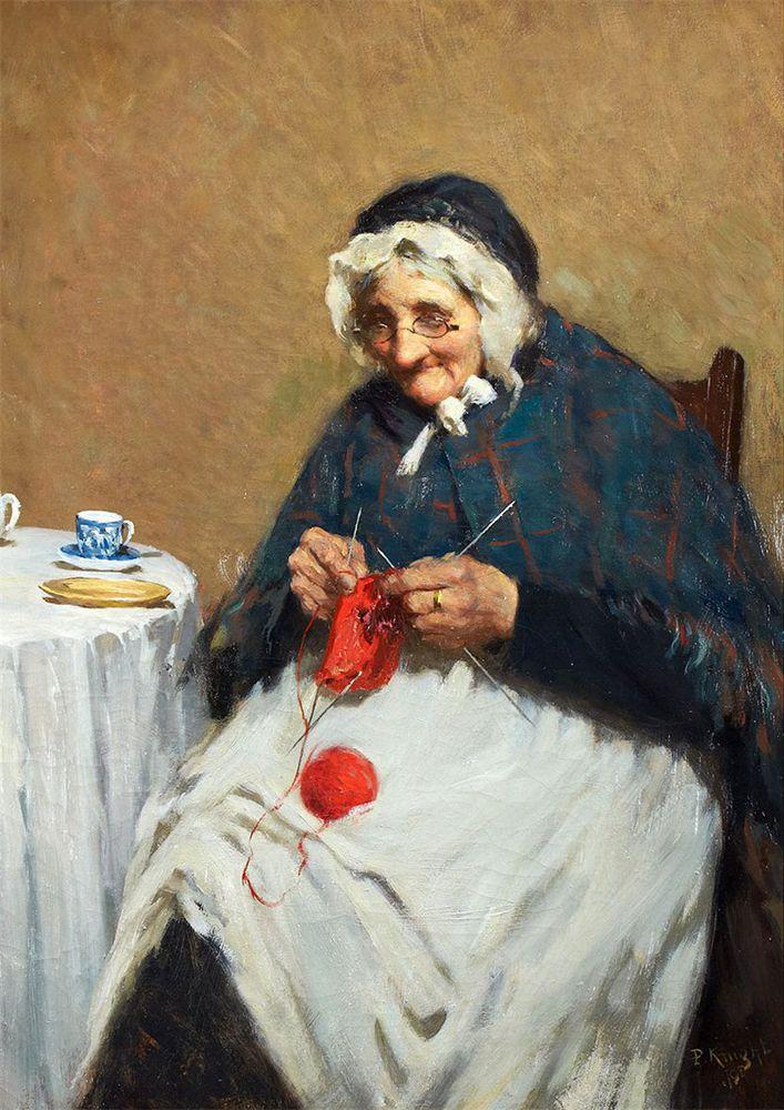 Когда есть чем заняться — стареть некогда: душевные картины о бабушках-рукодельницах, фото № 2