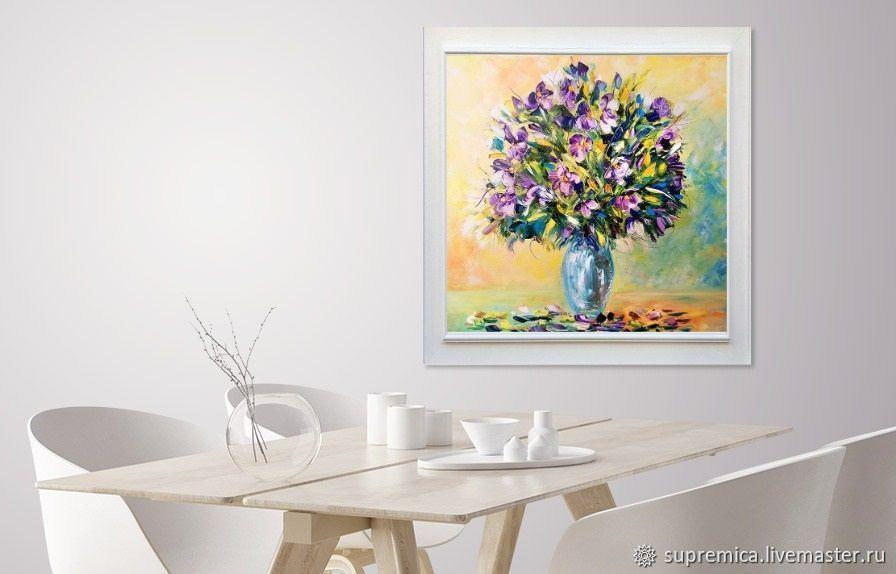картина маслом, розы на картине, картина в подарок