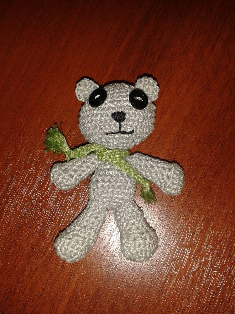 первая игрушка, медвежонок, мишка, медведь, крючком, связано крючком, амигуруми, начало, первый опыт