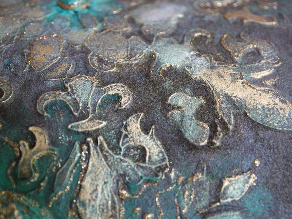 Антикварная ваза: имитация бронзы, садового мха, персидской бирюзы. | Ярмарка Мастеров - ручная работа, handmade