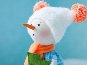 Мастер-класс: снеговичок Снежок своими руками. Ярмарка Мастеров - ручная работа, handmade.