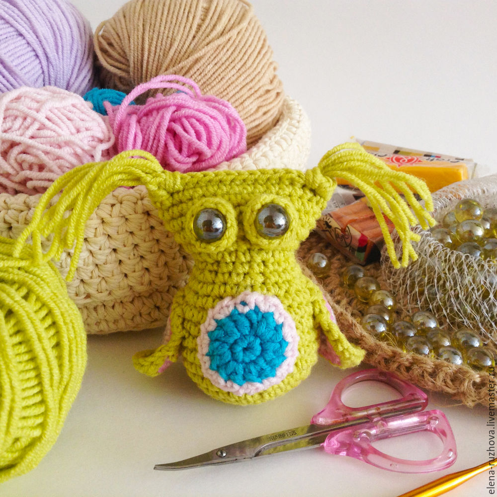 Crocheting a Charming Little Owlet with Tassels on Ears, фото № 13