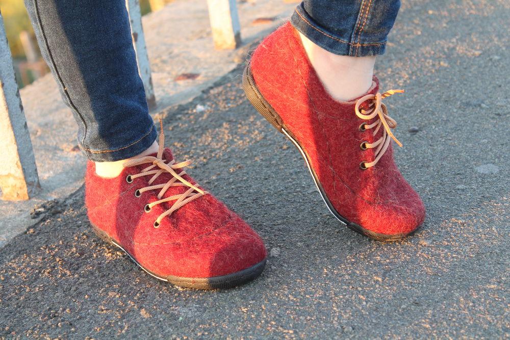 валяная обувь, войлок, ботинки