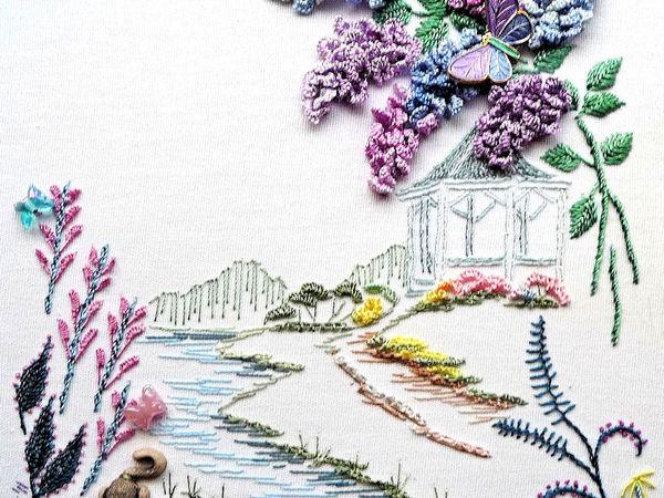 Великолепные дизайны бразильской вышивки (Brazilian embroidery) от Rozalie Wakefield | Ярмарка Мастеров - ручная работа, handmade