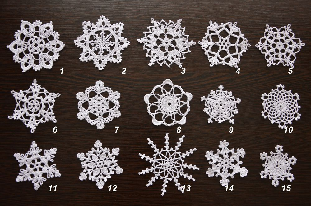 снежинка, снежинки, новогодние снежинки, снежинки крючком, вязаные снежинки, новый год, подарок на новый год