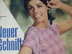 Neuer Schnitt — старый немецкий журнал мод 2/1965. Ярмарка Мастеров - ручная работа, handmade.