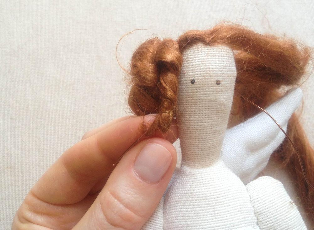Волосы для кукол тильды своими руками 479