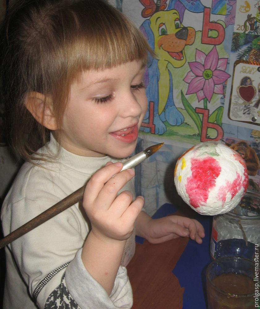 Делаем вместе с детьми ватные ёлочные шарики, фото № 5