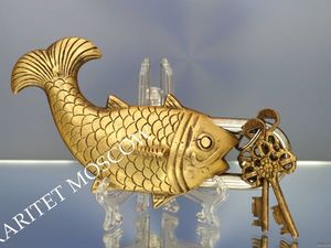 РЕДКОСТЬ Замок рыба ключ бронза латунь Англия 2. Ярмарка Мастеров - ручная работа, handmade.