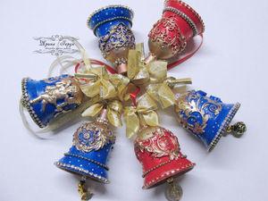 Видео и фото новогодних колокольчиков. Ярмарка Мастеров - ручная работа, handmade.