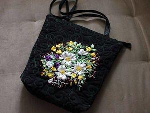 СРОЧНО!!!  Аукцион на сумку летнюю с вышивкой лентами! | Ярмарка Мастеров - ручная работа, handmade