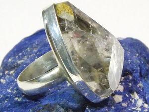 Перстень из граненого кварца с включениями.. Ярмарка Мастеров - ручная работа, handmade.