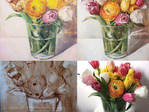 Новая картина маслом 'особенный букет' | Ярмарка Мастеров - ручная работа, handmade