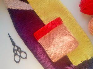 Вяжем накладной карман: видеоурок. Ярмарка Мастеров - ручная работа, handmade.
