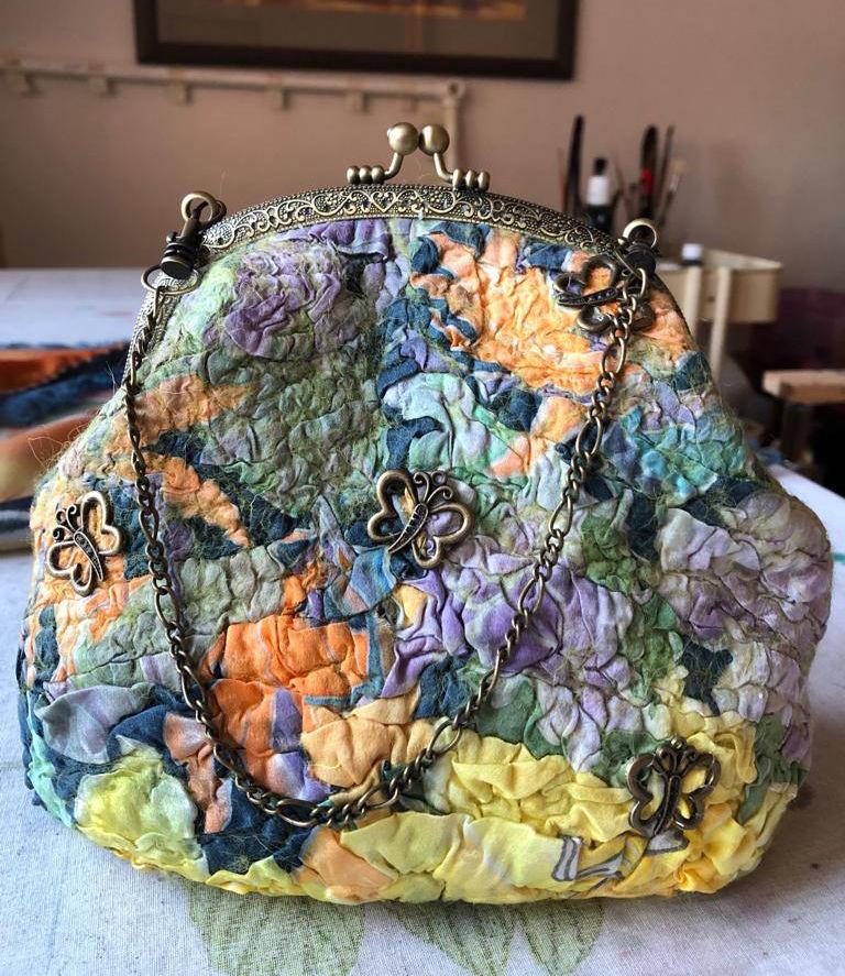 Изящная валяная сумочка с фермуаром, фото № 21