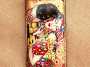 «Поцелуй» Густава Климта. Миниатюрная копия (фрагмент) | Ярмарка Мастеров - ручная работа, handmade