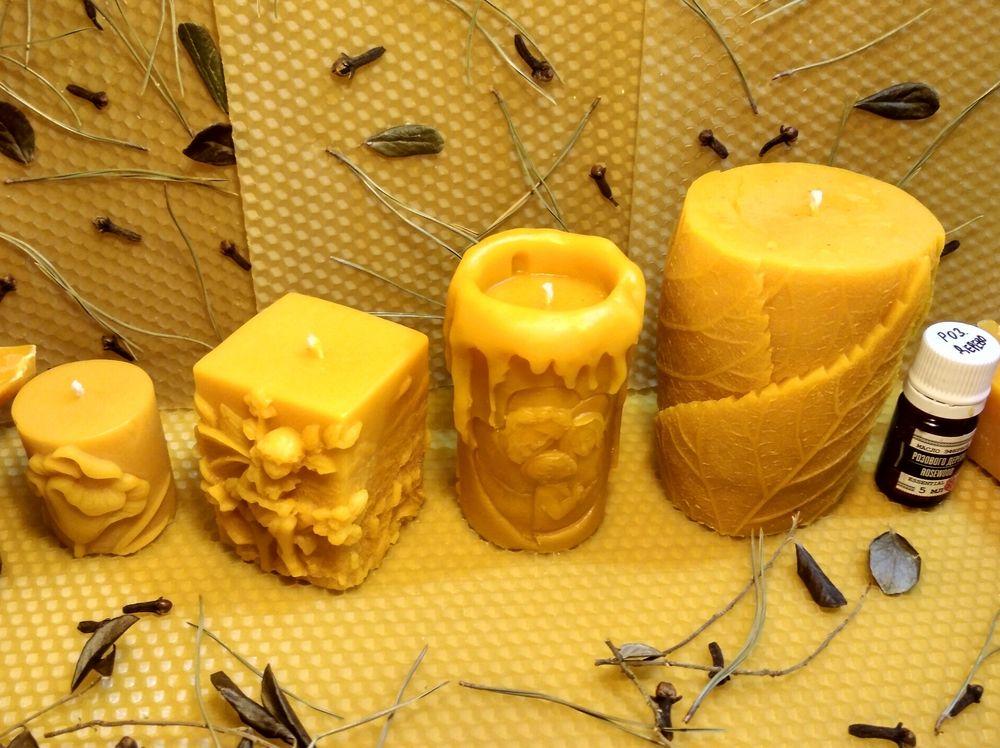 свечи восковые, подарок ручной работы, подарок, свечи