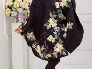 Весенние акварели. Пальто и пончо.. Ярмарка Мастеров - ручная работа, handmade.