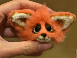 Make a Fox Brooch of Fur Using Mixed Media. Livemaster - handmade
