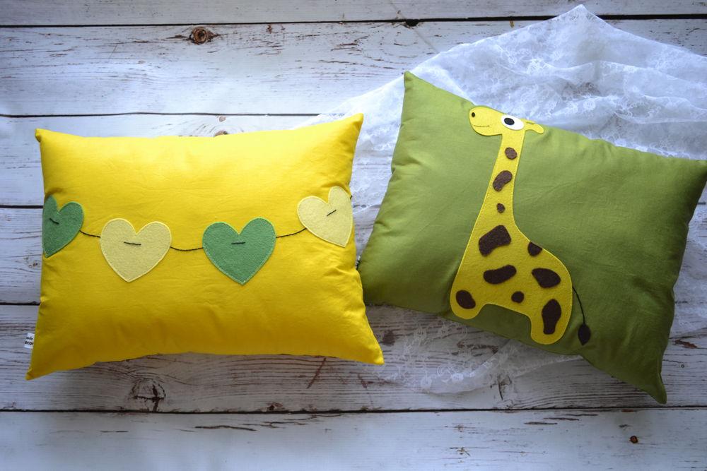 подушка в подарок, новости магазина, жираф
