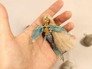 Маленькая Русалочка из дерева.. Ярмарка Мастеров - ручная работа, handmade.