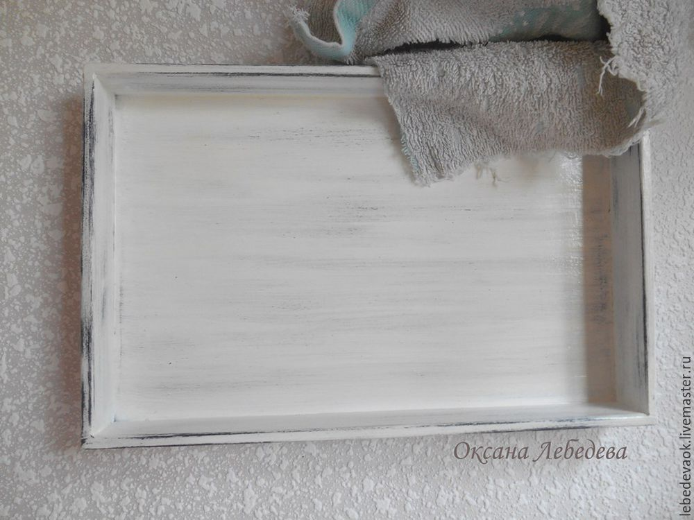 Decorating a Wooden Tray in the French Vintage Style, фото № 6