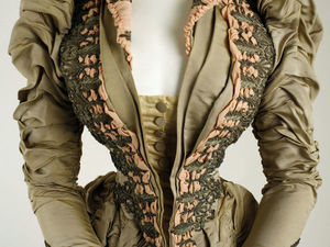 Наряды второй половины 19 века с вышивкой бисером. Ярмарка Мастеров - ручная работа, handmade.