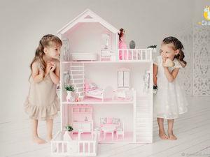 Кукольный домик, детская кухня, туалетный столик для девочки, паркинг, мебель для кукольного домика. Ярмарка Мастеров - ручная работа, handmade.
