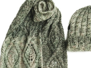 Новинка! Крутой меланж шарф и шапочка меринос. Ярмарка Мастеров - ручная работа, handmade.