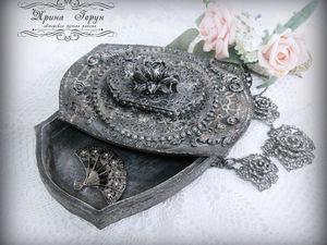 Шкатулка старое серебро. Видео | Ярмарка Мастеров - ручная работа, handmade