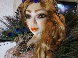 "Новая авторская кукла ""Павлин"". Ярмарка Мастеров - ручная работа, handmade."