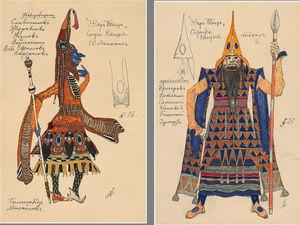 Художественное богатство образов в эскизах Александра Головина для балета «Жар-Птица». Ярмарка Мастеров - ручная работа, handmade.