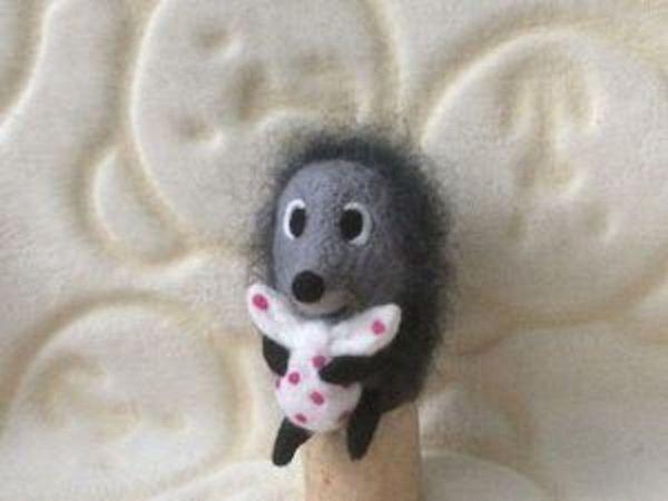 Розыгрыш валяной игрушки Ёжик в тумане | Ярмарка Мастеров - ручная работа, handmade