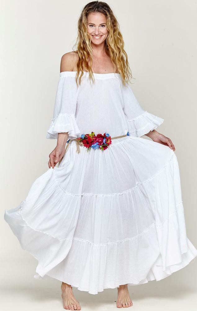 Белое бохо, или Шикарная одежда для королевы летнего пляжа, фото № 86
