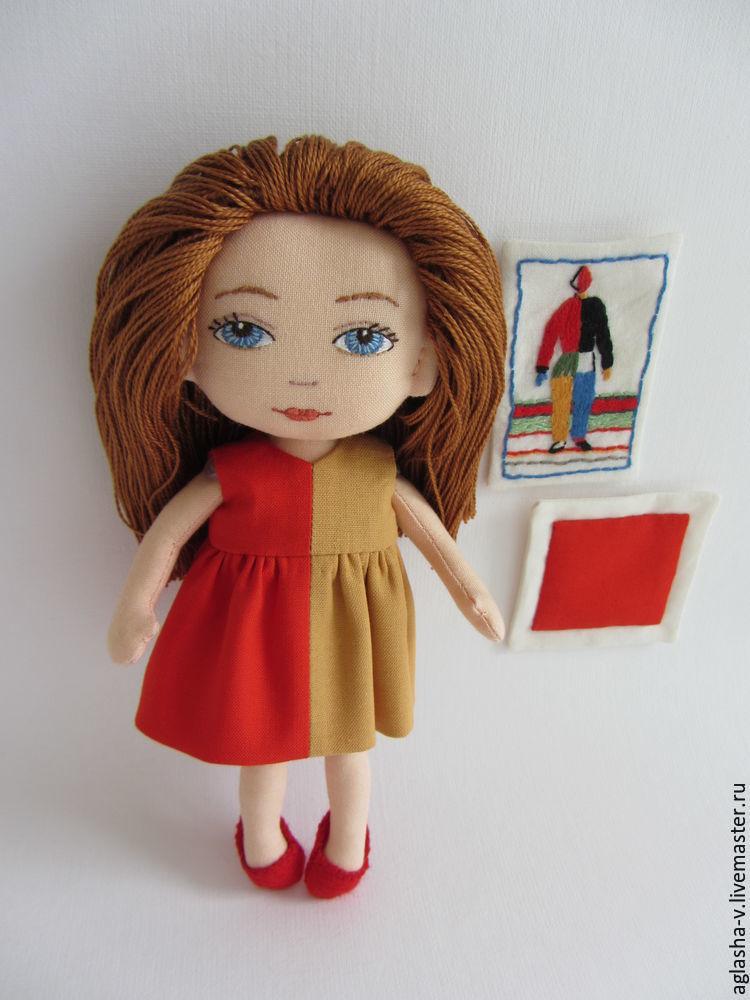 Как сделать волосы для портретная кукла 16