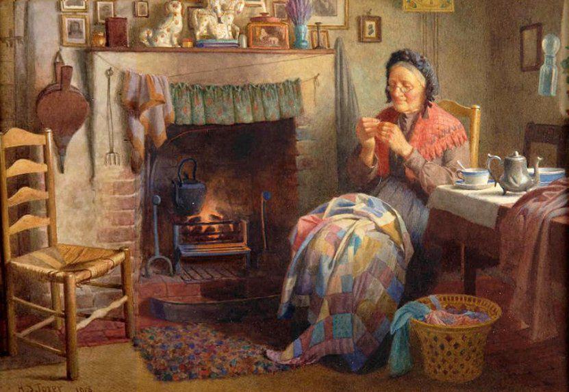 Когда есть чем заняться — стареть некогда: душевные картины о бабушках-рукодельницах, фото № 26