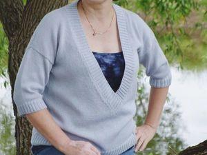 Летний шелковый пуловер. Ярмарка Мастеров - ручная работа, handmade.