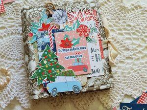 Обзор мини-альбома Рождественская история. Ярмарка Мастеров - ручная работа, handmade.