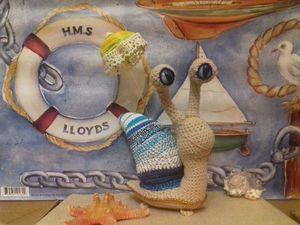 Все на пляж! Вяжем пляжную улитку. Ярмарка Мастеров - ручная работа, handmade.